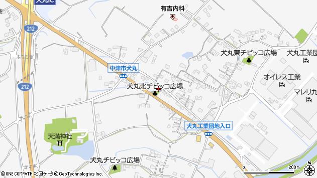 大分県中津市犬丸690周辺の地図