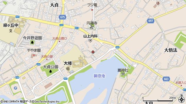 大分県中津市大貞231周辺の地図