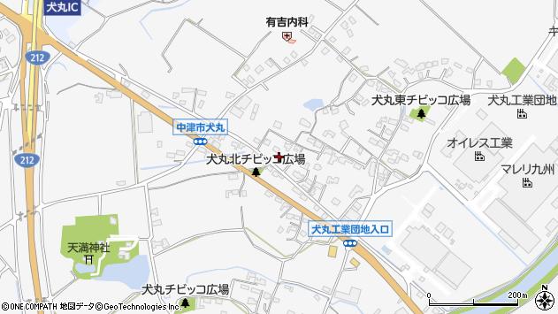 大分県中津市犬丸624周辺の地図