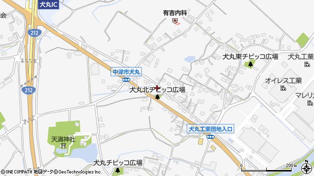 大分県中津市犬丸693周辺の地図