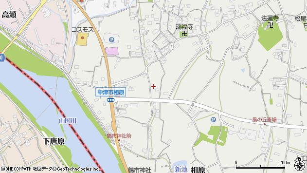 大分県中津市相原3461周辺の地図