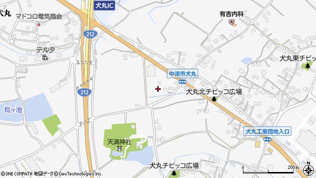 大分県中津市犬丸1679周辺の地図