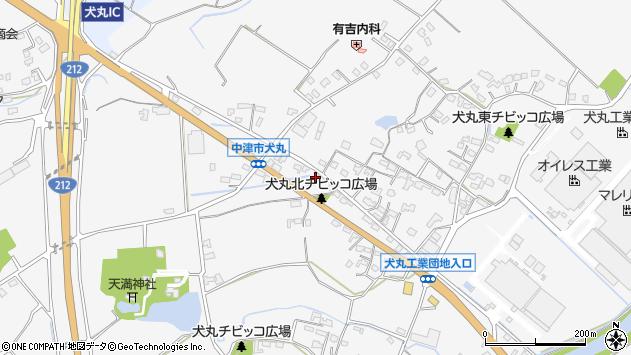 大分県中津市犬丸694周辺の地図