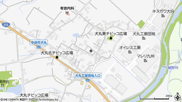 大分県中津市犬丸582周辺の地図