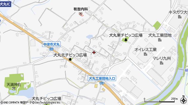 大分県中津市犬丸598周辺の地図