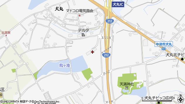 大分県中津市犬丸2134周辺の地図