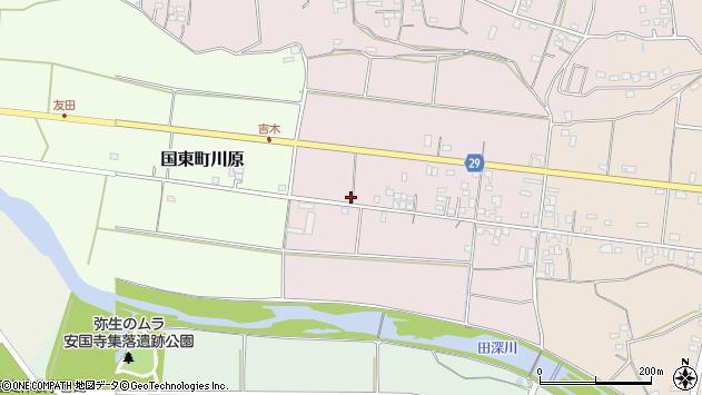 大分県国東市国東町北江75周辺の地図