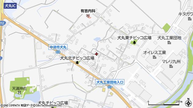 大分県中津市犬丸602周辺の地図