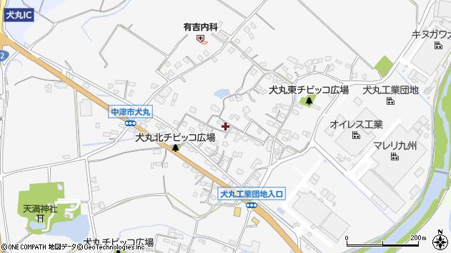 大分県中津市犬丸599周辺の地図