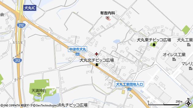 大分県中津市犬丸618周辺の地図