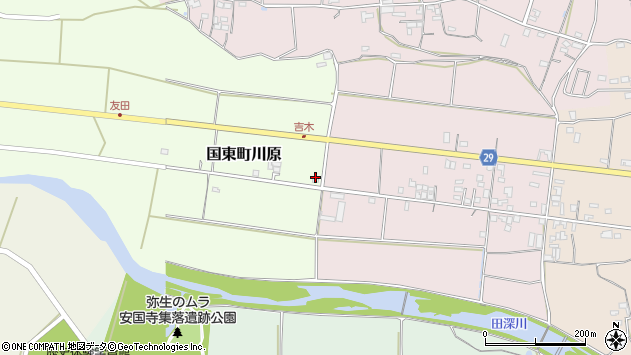大分県国東市国東町川原870周辺の地図