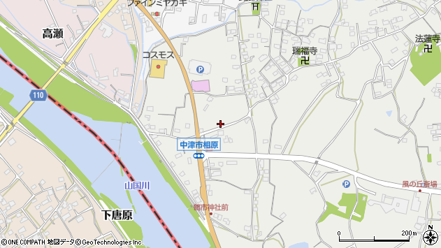 大分県中津市相原3361周辺の地図