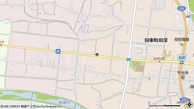大分県国東市国東町田深818周辺の地図