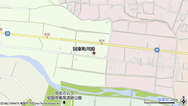 大分県国東市国東町川原890周辺の地図