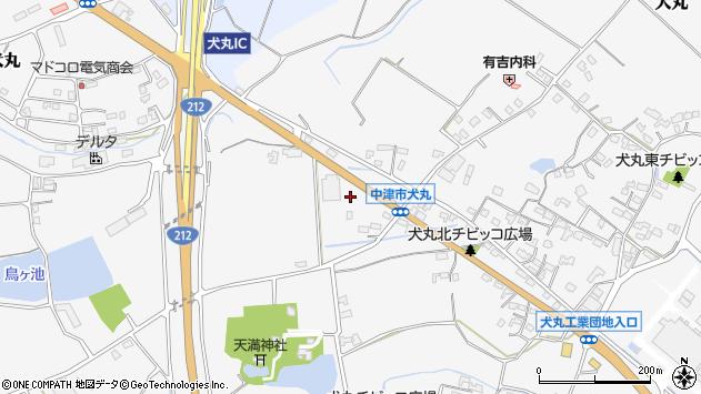 大分県中津市犬丸1676周辺の地図