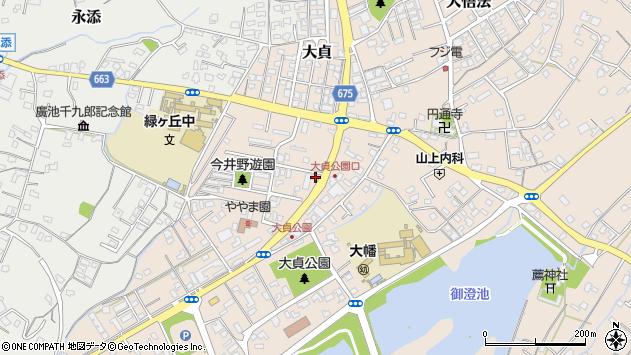 大分県中津市大貞309周辺の地図