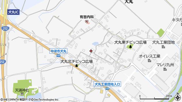 大分県中津市犬丸605周辺の地図