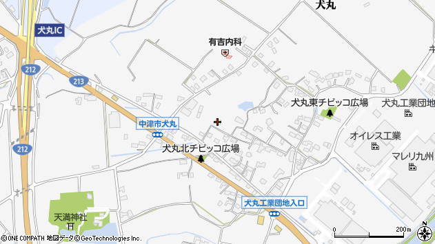 大分県中津市犬丸613周辺の地図