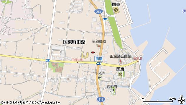 大分県国東市国東町田深902周辺の地図