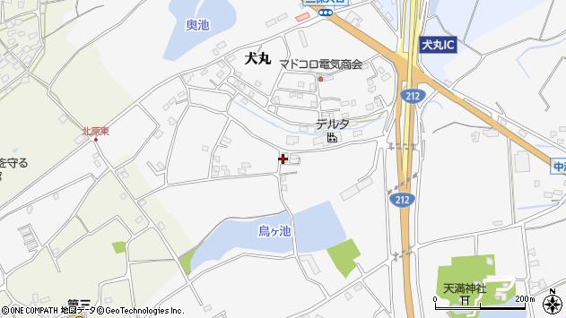 大分県中津市犬丸2307周辺の地図