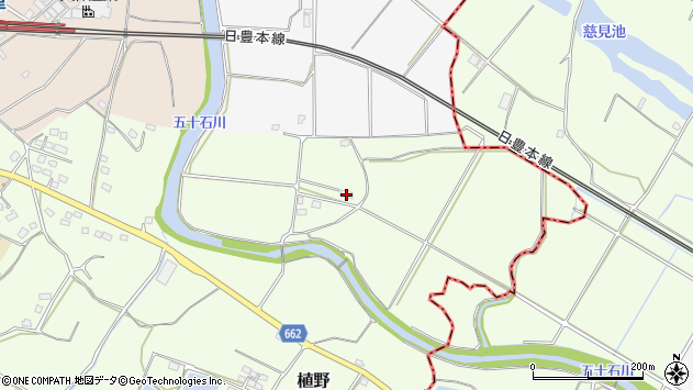 大分県中津市植野2083周辺の地図
