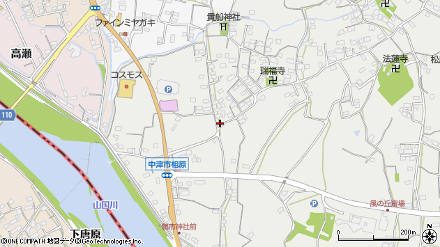 大分県中津市相原3623周辺の地図