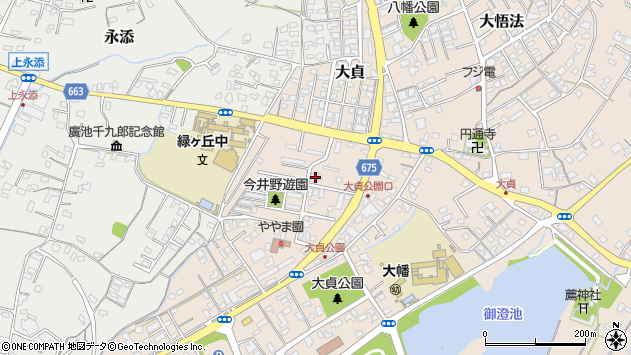 大分県中津市大貞302周辺の地図