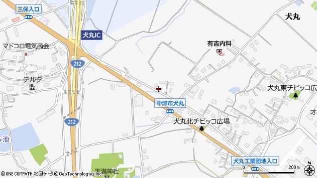 大分県中津市犬丸1962周辺の地図
