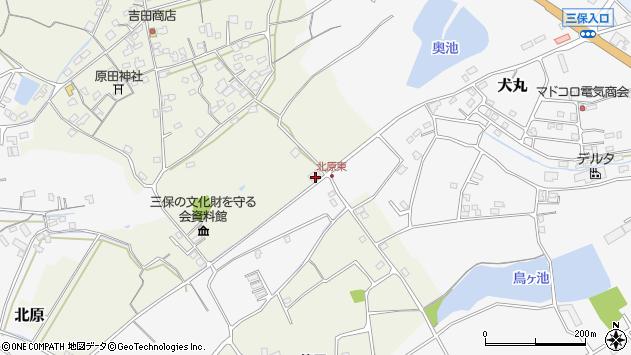 大分県中津市北原153周辺の地図