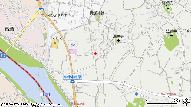 大分県中津市相原3625周辺の地図