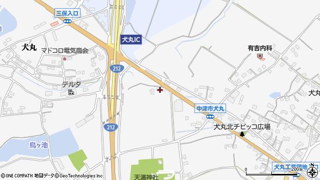 大分県中津市犬丸1661周辺の地図