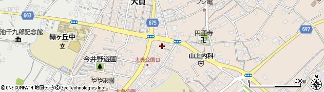 大分県中津市大貞258周辺の地図