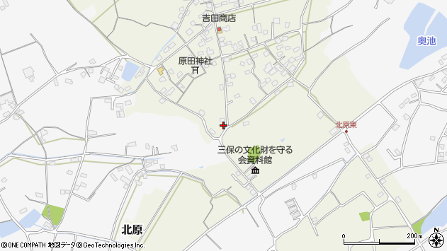 大分県中津市北原330周辺の地図