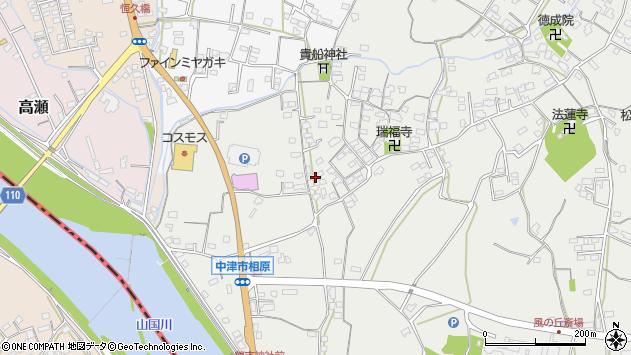 大分県中津市相原3634周辺の地図