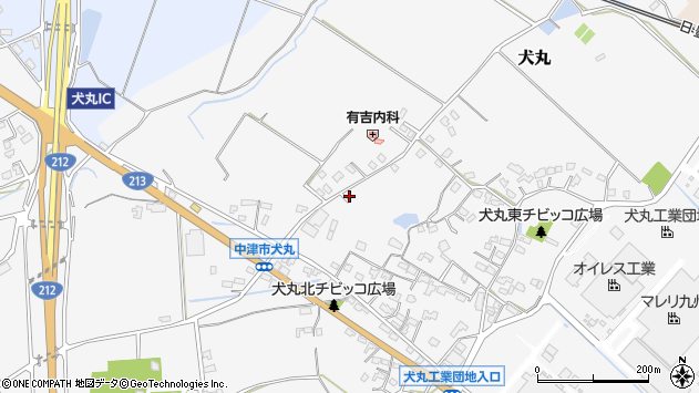 大分県中津市犬丸1713周辺の地図