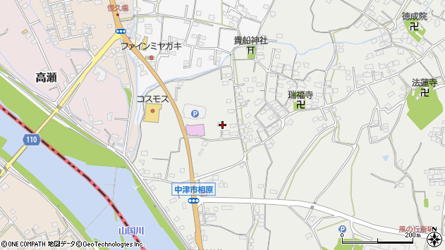 大分県中津市相原3346周辺の地図