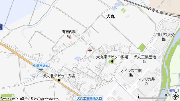 大分県中津市犬丸553周辺の地図