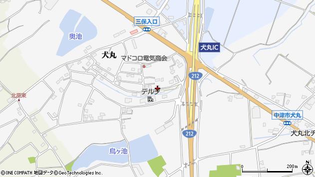 大分県中津市犬丸2346周辺の地図