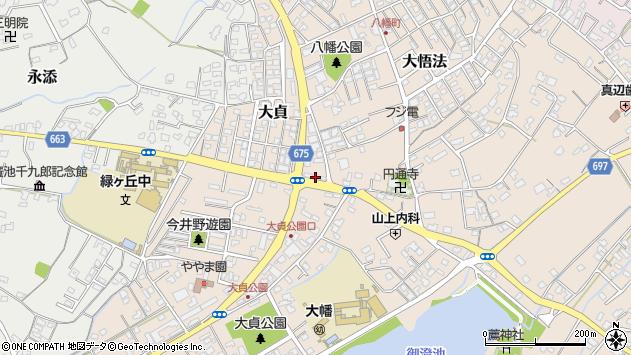 大分県中津市大貞288周辺の地図