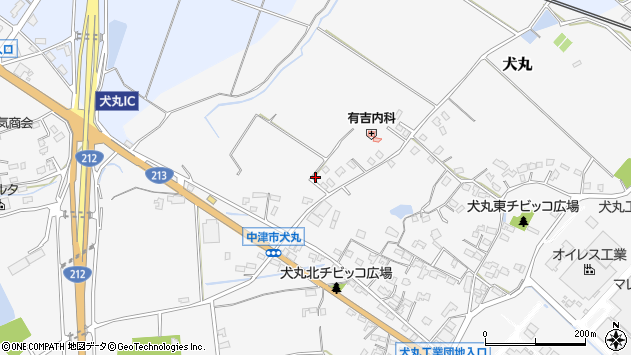 大分県中津市犬丸1945周辺の地図