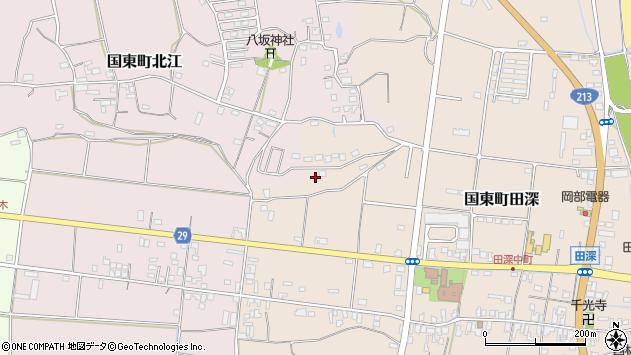 大分県国東市国東町田深760周辺の地図