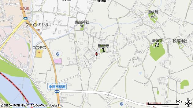 大分県中津市相原3608周辺の地図