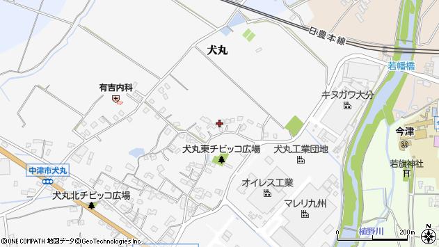 大分県中津市犬丸476周辺の地図