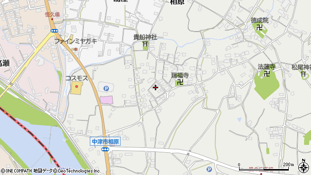 大分県中津市相原3613周辺の地図