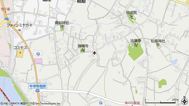 大分県中津市相原3483周辺の地図