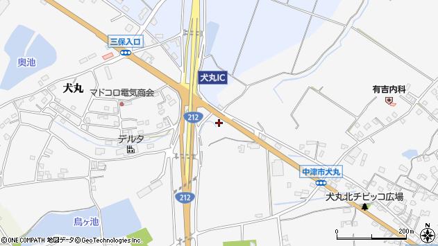 大分県中津市犬丸2115周辺の地図