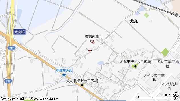大分県中津市犬丸1934周辺の地図