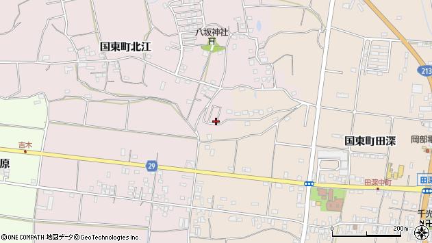 大分県国東市国東町北江960周辺の地図