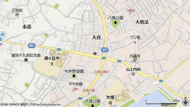 大分県中津市大貞344周辺の地図