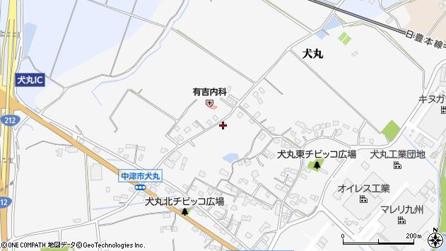 大分県中津市犬丸1718周辺の地図
